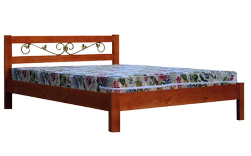 деревянная кровать Ника тахта с ковкой