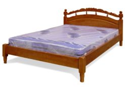 деревянная кровать Джулия с резьбой