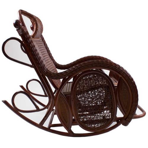 кресло-качалка из ротанга Алекса Твист