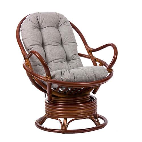 кресло-качалка из ротанга Swivel Rocker