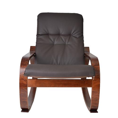мягкое кресло-качалка Сайма экокожа