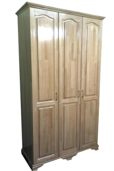 распашной шкаф из массива дерева Престиж светлый