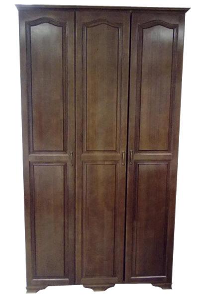 распашной шкаф из массива дерева Престиж темный