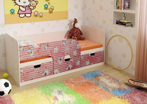 Детская кровать Минима розовая китти