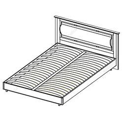 Кровать 1,4х2 «Камелия»