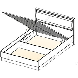 Кровать с подъемным механизмом «Симона»