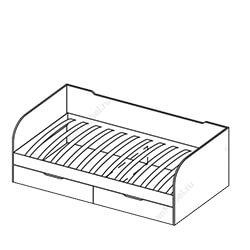 Кровать с ящиками «Забава»