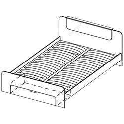 Кровать 1,6х2 «Соната»