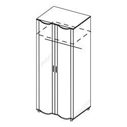 Шкаф 2-створчатый «Камелия»