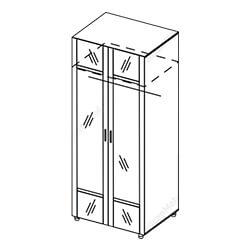 Шкаф 2-створчатый с зеркалом «Камелия»