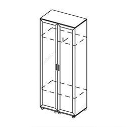 Шкаф 2-створчатый «Визит»