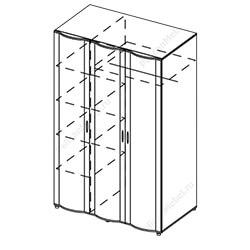 Шкаф 3-створчатый с зеркалом «Симона»