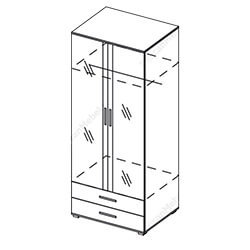 Шкаф 2-створчатый «Грация»