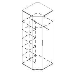 Шкаф угловой «Грация»