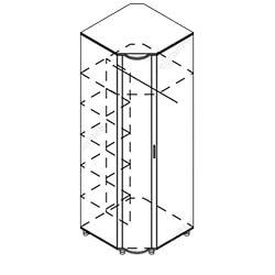 Шкаф угловой «Камелия»