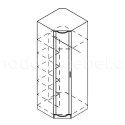Шкаф угловой «Магнолия»