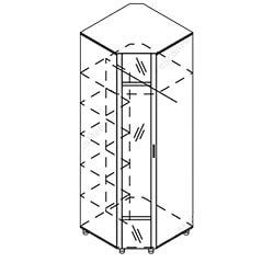 Шкаф угловой с зеркалом «Камелия»