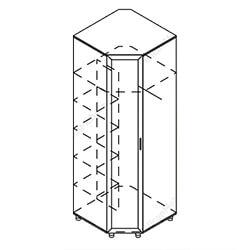 Шкаф угловой «Визит»
