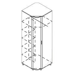 Шкаф угловой «Симона»