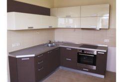 Кухня 2 бежево-коричневая