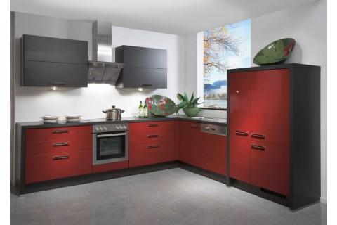 Кухня современная 3 красная