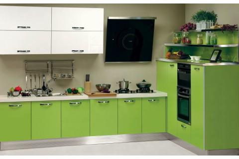 кухня современная салатовая