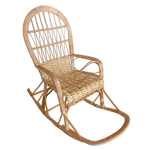 плетеное кресло-качалка Классика