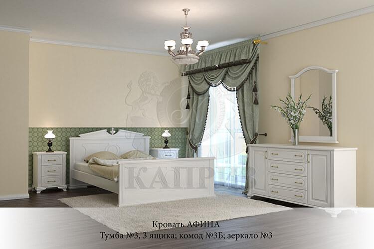 спальня из массива дерева Афина