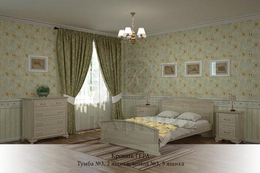 спальня из массива дерева Гера