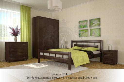 спальня из массива дерева Сатори
