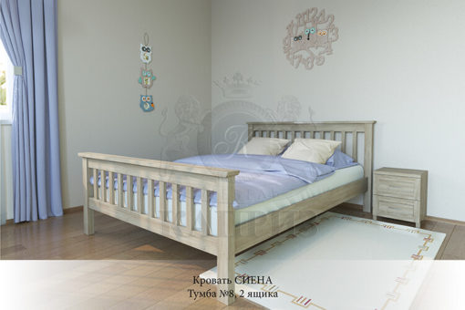 спальня из массива дерева Сиена