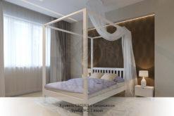 спальня из массива дерева Сиена с балдахином
